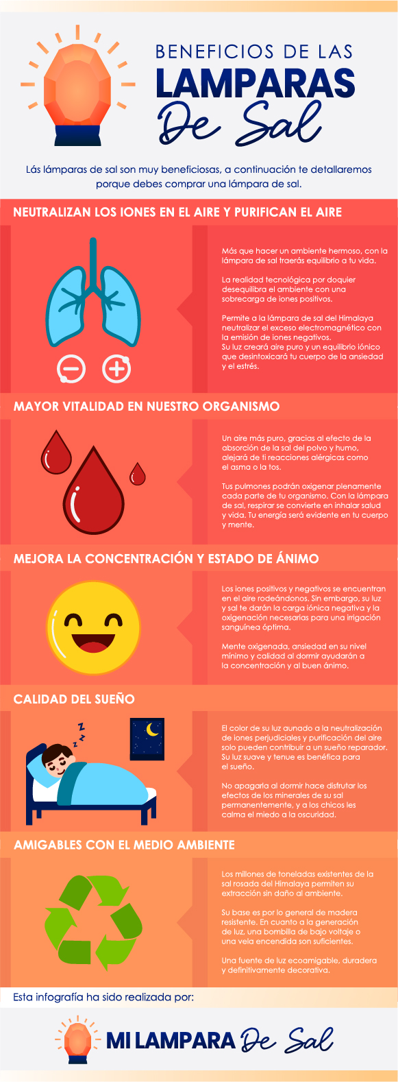 beneficios de las lamparas de sal